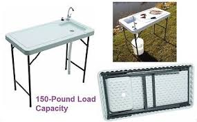 Portable Camping Sink Kitchen by Fish Cleaning Table Sink Portable Outdoor Fishing Camping Faucet