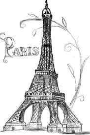 pretty drawing of the eiffel tower u can tell i really want to go