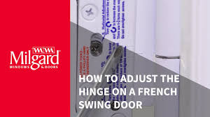 French Outswing Patio Doors by How To Adjust The Hinge On A French Swing Patio Door Youtube