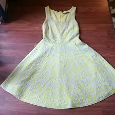 60 off brixton ivy dresses u0026 skirts electric yellow and gray