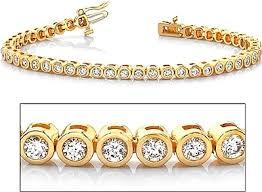 bracelet gold diamond tennis images 18k yellow gold bezel set diamond tennis bracelet 2 60ct tw png
