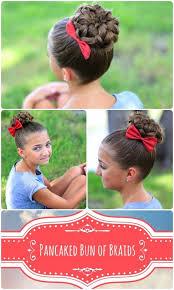 cute girl hairstyles diy pancaked bun of braids updo hairstyles cute girls hairstyles
