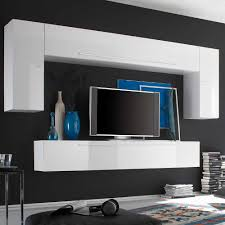 Wohnzimmerschrank Ohne Tv Tv Anbauwand Anella In Weiß Hochglanz Pharao24 De