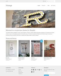site deco vintage vintage theme minimal ecommerce website template