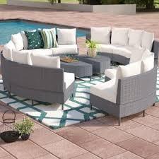 Circle Patio Furniture by Semi Circle Outdoor Sectional Wayfair