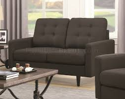 Chesterfield Sofa In Fabric by Sofa In Charcoal Fabric 505374 By Coaster W Options