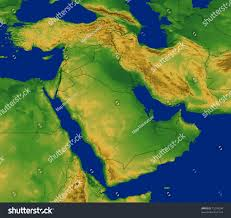 Middle East Map by Middle East Map Terrain Stock Illustration 15294394 Shutterstock