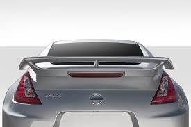 nissan 350z rear spoiler rear spoiler u0026 wings 2009 2016 nissan 370z apr gtc 300 series