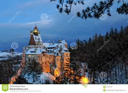 dracula u0027s castle after the sunset stock image image 39781497
