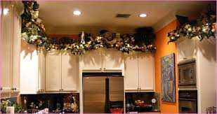 christmas decorations for kitchen cabinets above kitchen cabinets decorating ideas lanzaroteya kitchen