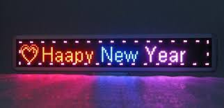 led new years led moving signs and customised signs