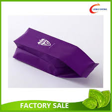 fin seal side gusset side cello plastic food bags coffee bean bags