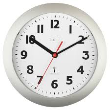 acctim parona radio controlled silver 23cm wall clock robert dyas