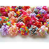 Flowers For Crafts - amazon com 100 assorted flower heads for crafts head bands