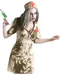 walking dead zombie dirty nurse syringe womens fancy dress