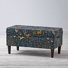 Ikat Storage Ottoman Bench Wood Storage Benches C A Beautiful Ikat Storage Bench Rome