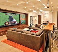Man Cave Sofa by 10 Chic Basements By Candice Olson Football Season Men Cave And Bar