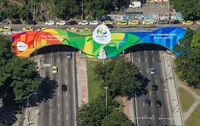 Olympic Games Decorations Rio Shows Off Its Olympic Colours Ahead Of The Games Official