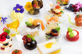 mini canape mini canape with elements of molecular kitchen stock photo image