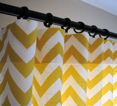 Yellow White Chevron Curtains Chevron Pattern Curtains 9628