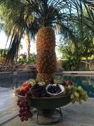 pineapple palm tree fruit bowl u2014 les petites gourmettes