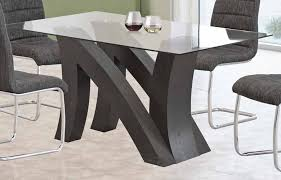 New York Modern Lacquer Dining Table Set - Black lacquer dining room set