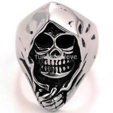 mens skull wedding rings aliexpress buy retro stainless steel biker mens skull