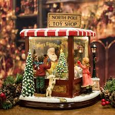 luxury santa u0027s toy shop light up musical moving christmas