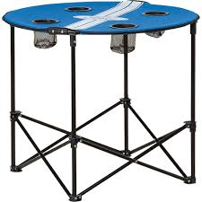 ford logo folding cloth tailgate table with 4 cup holders www