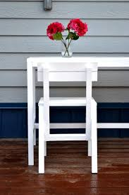 Outdoor End Table Plans Free by Ana White Harriet Outdoor Dining Chair For Small Modern Spaces