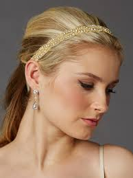 gold headbands gold ivory ribbon bridal headband with golden seed