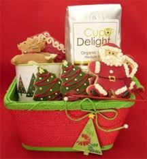 christmas cookie gifts gift basket with christmas cookies coffee