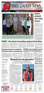 August 28 2018 The Posey County News by The Posey County News issuu