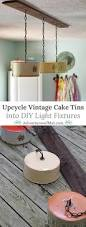 vintage kitchen lighting fixtures how to upcycle vintage cake tins to diy light fixtures