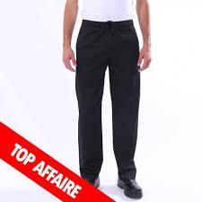 pantalon de cuisine noir pantalon de cuisine noir