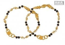 childrens gold bracelets gold black bracelet 22k ajkb52606 22k black baby