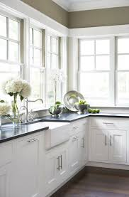 white kitchen cabinets black granite homes design inspiration