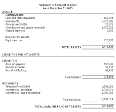 Non Profit Balance Sheet Template Excel Financial Statement Individual Financial Statement Form Sle