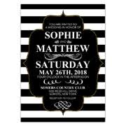 black and white striped wedding invitations wedding invitations paperstyle page 2