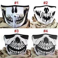 wholesale multifunction cosplay bike skeleton mask costume