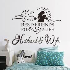 husbands room stickers promotion shop for promotional husbands best friends for life wife husband love heart stars wall sticker home room decor 2 color shipping free