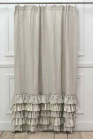 Ruffled Shower Curtains Linen Ruffle Shower Curtain Ruffle Shower Curtains Pottery And Barn