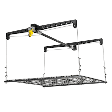 shop racor 48 in w x 48 in d black steel overhead garage storage