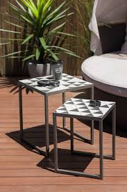 side table set of 2 polygon nesting side table set of 2 the block shop