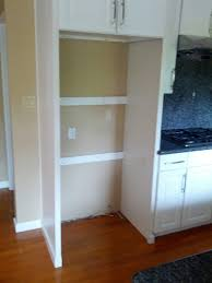 cabinet enclosure for refrigerator kitchens can i remove one side frame of the cabinets above the