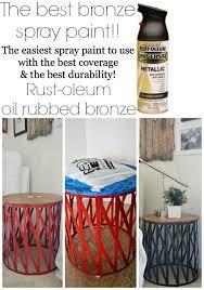 target table makeover u0026 the best bronze spray paint liz marie blog