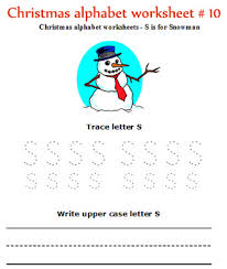 christmas alphabet letters worksheets for preschool and