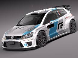 volkswagen race car polo rally car 3d 3ds