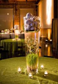 Tall Glass Vase Centerpiece Ideas Sports Themed Weddings Sports Themed Wedding Reception Centerpieces