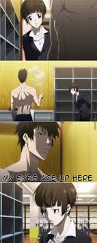 Death Note Kink Meme - i m sorry this scene was just too hilarious xd shinya kougami